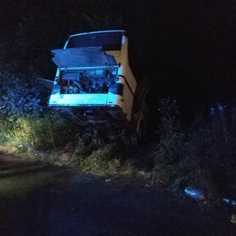 На Львівщині на дорозі не розминулись дві вантажівки та автобус: є постраждалі, - ФОТО, фото-2, Фото: Ігор Зінкевич/Facebook.com