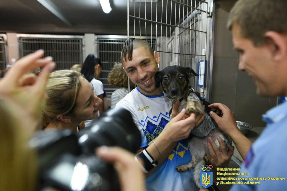 Як у Львові відомі спортсмени допомагали безпритульним тваринам, - ФОТО, фото-5