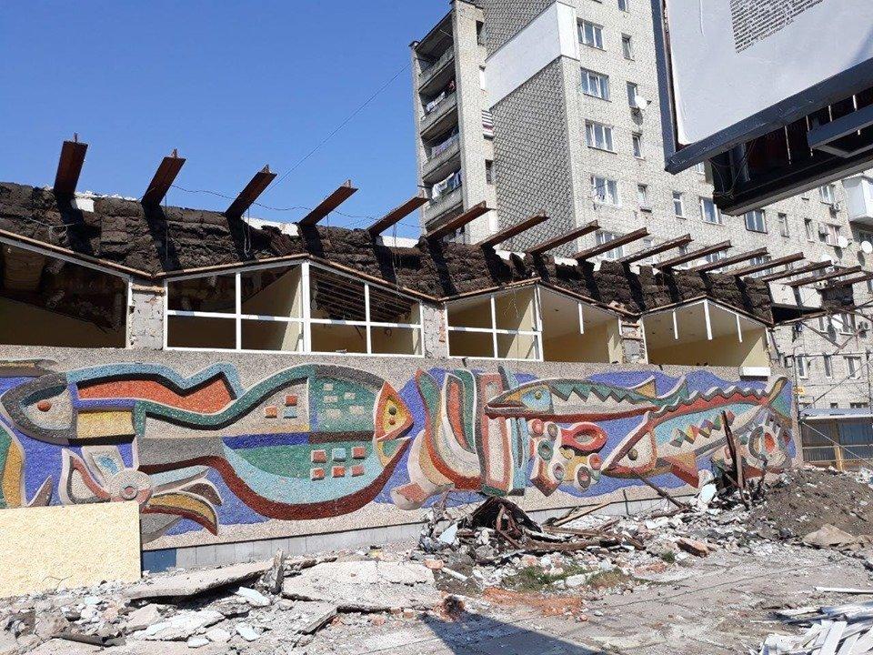 Садовий пообіцяв скасувати містобудівні умови забудовнику, який знищив мозаїку В. Патика, фото-1