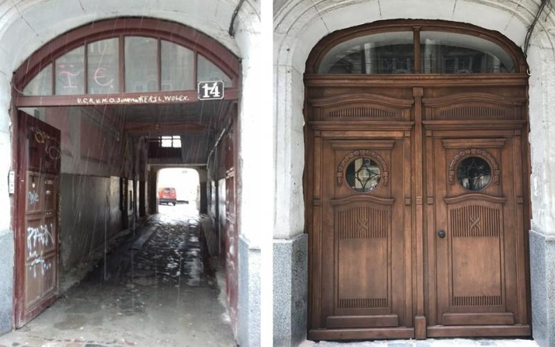 Для будинку на вулиці Дорошенка у Львові виготовили нову дерев'яну браму, - ФОТО, фото-1