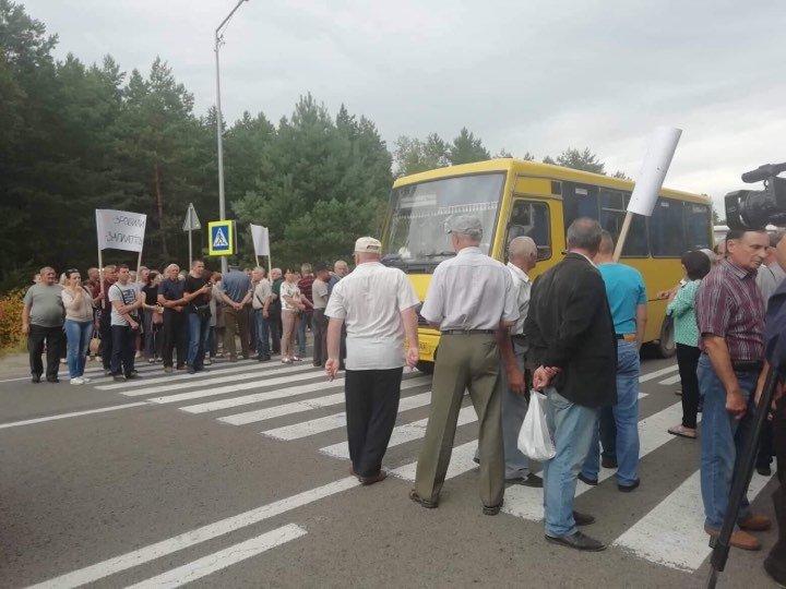 На Львівщині працівники ТЕЦ перекрили трасу до кордону з Польщею, - ФОТО, фото-1