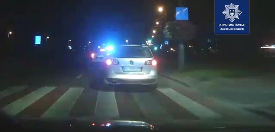Вночі на Сихові нетверезий водій влаштував перегони з поліцією, фото-1, Фото: патрульна поліція Львівщини