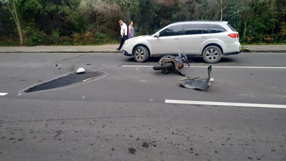 У Львові не розминулися легковик та мотоцикл. Фото з місця аварії, фото-2, Фото: Ігор Зінкевич/Facebook.com
