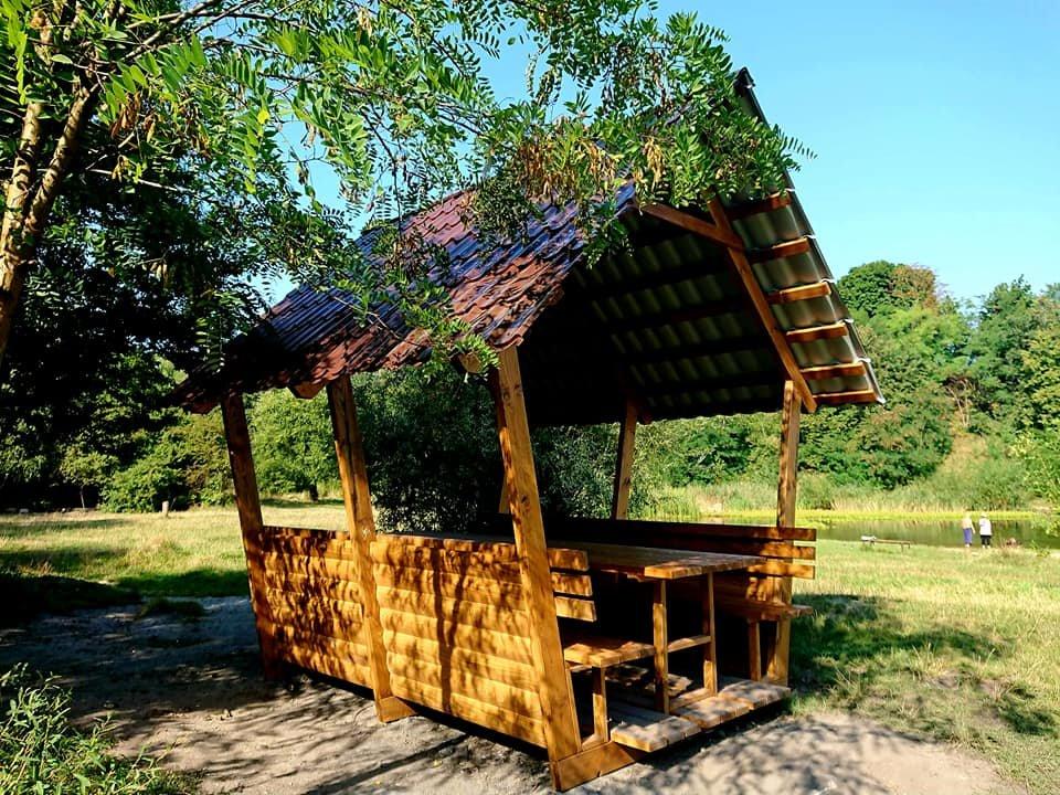 """У парку """"Знесіння"""" встановили нові колиби біля озера, - ФОТО, фото-5"""