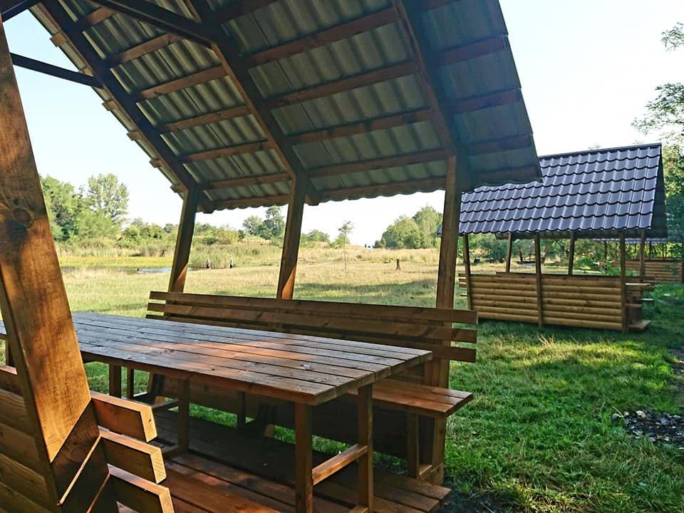 """У парку """"Знесіння"""" встановили нові колиби біля озера, - ФОТО, фото-3"""