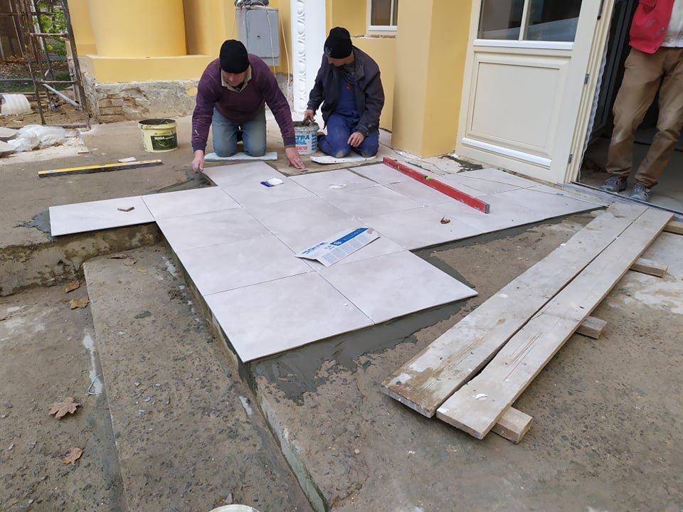 Зараз триває ремонт будівлі сенсотеки/фото Богдана Зятика