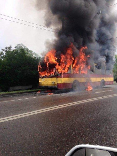Фото: ДСНС, тролейбус №2