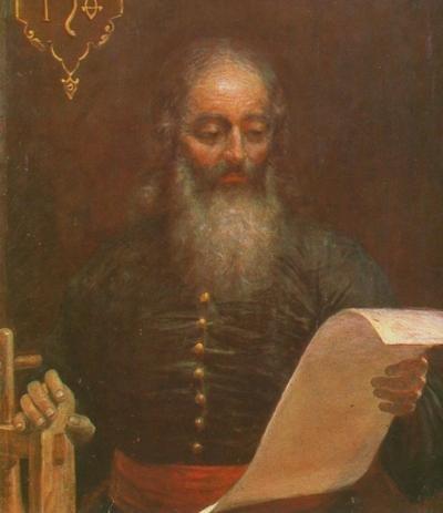 Portrait of Ivan Fedorov by I. Tomaszewicz, painted circa 1904