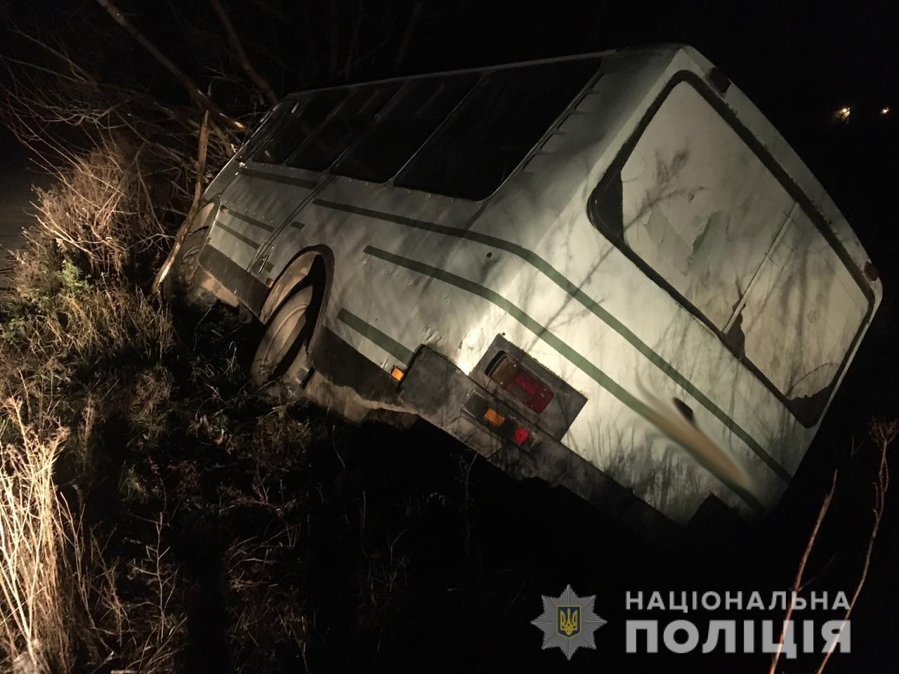 На Львівщині рейсовий автобус з'їхав у кювет: є постраждала, - ФОТО, фото-1