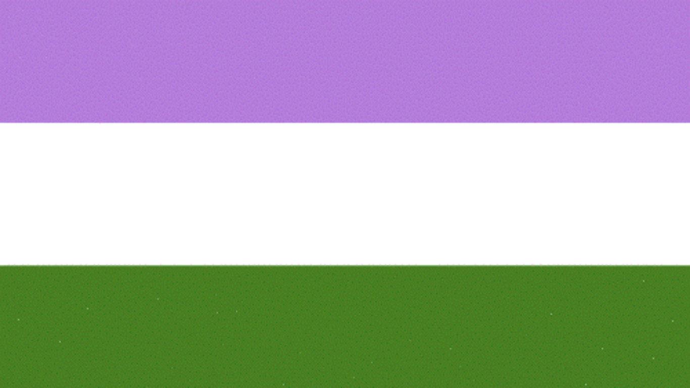 На фото: прапор гендерквір