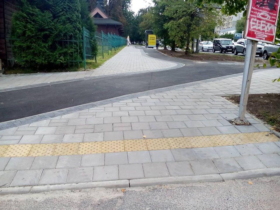 """Велодоріжка на вул. Княгині Ольги/фото """"Зручного міста"""""""
