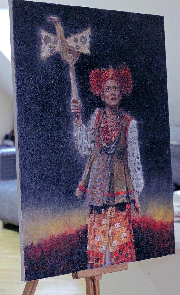 Робота із серії з українськими мотивами, фото Віри Карпінської