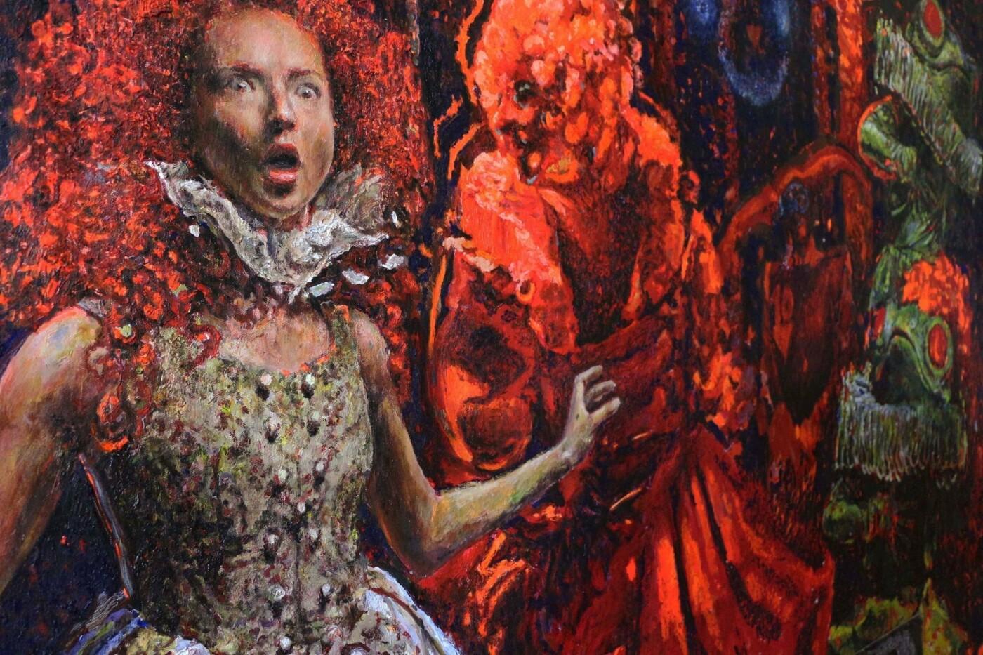 Робота Макса Сіра на тему Аліси в країні чудес, фото Віри Карпінської