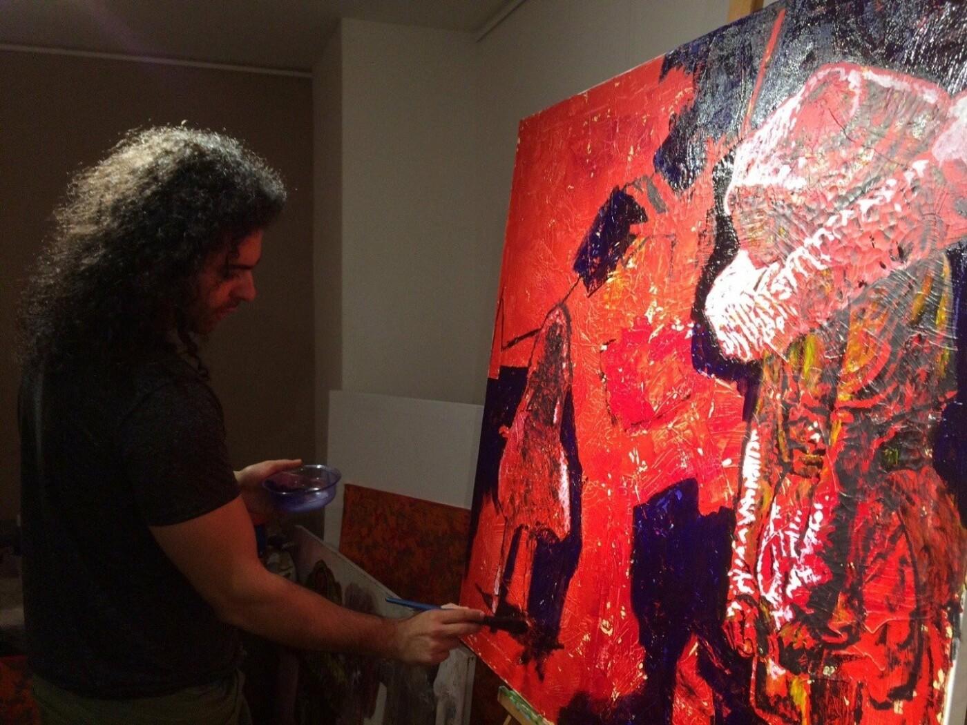 Макс Сір у студії, фото Віри Карпінської