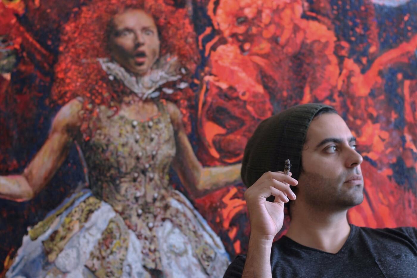 Макс Сір у своїй студії, фото Віри Карпінської