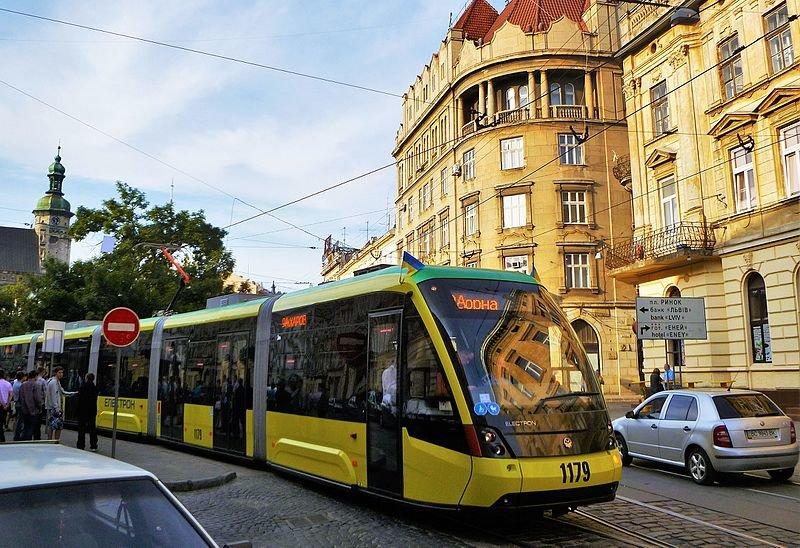 Трамваї у Львові, фото з Вікіпедії