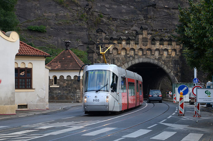 Прага, трамвай, фото transphoto.ru
