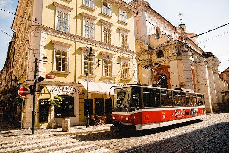 Прага, трамвай, hellopraga.ru