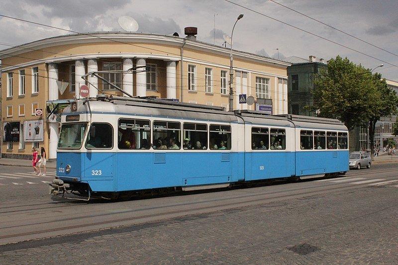 Вінницький трамвай, фото Вікіпедія