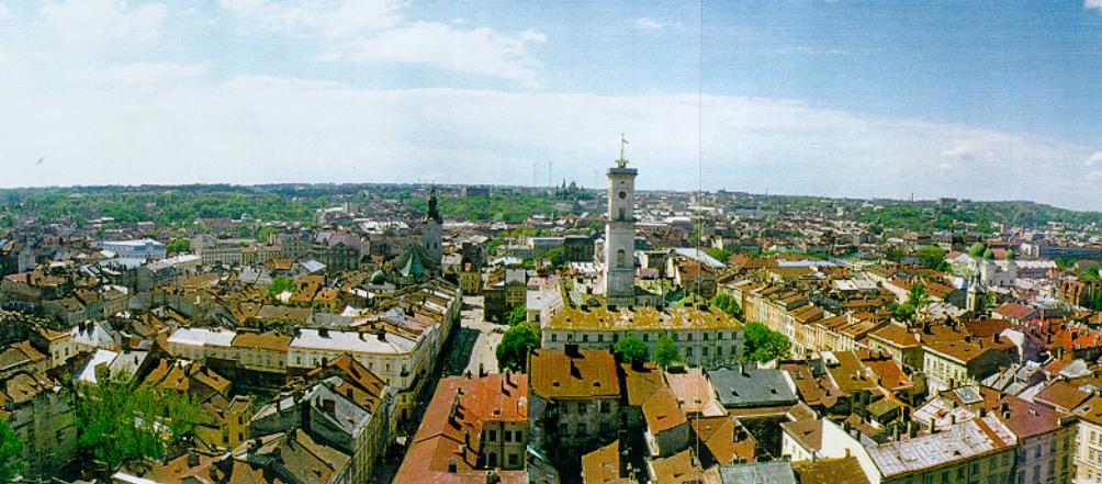 Панорама Львова з сайту ЮНЕСКО