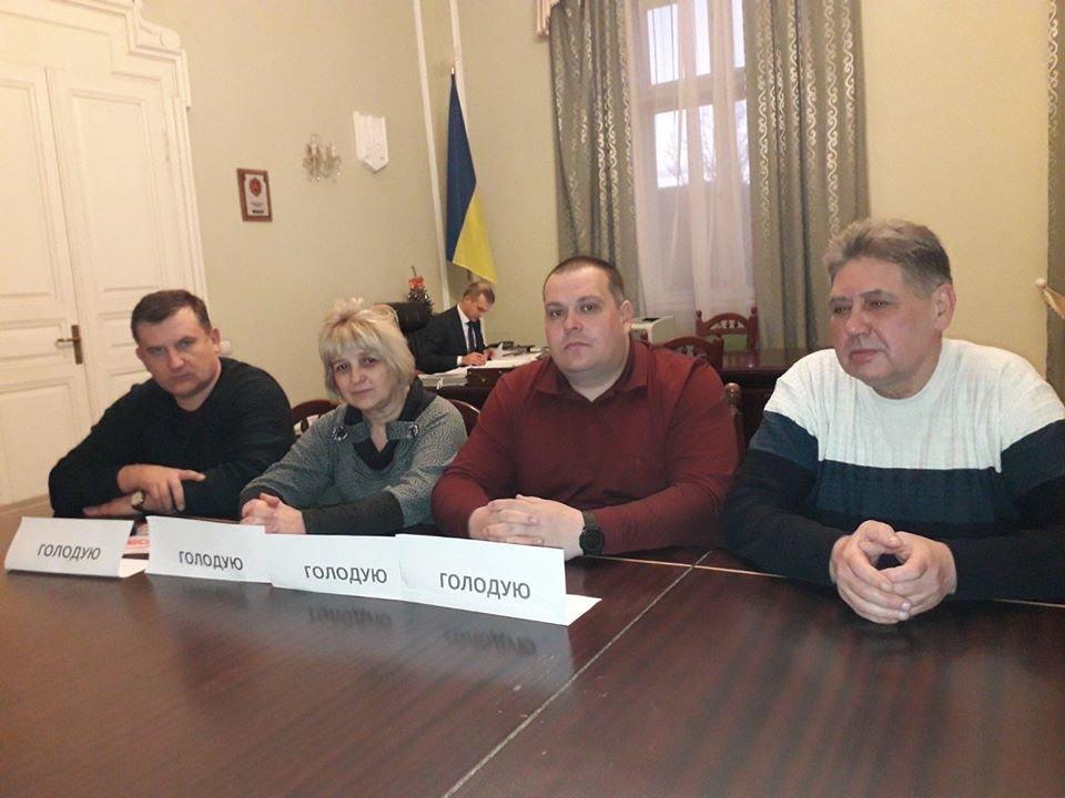 Лідери профспілок в приміщенні Львівської ОДА