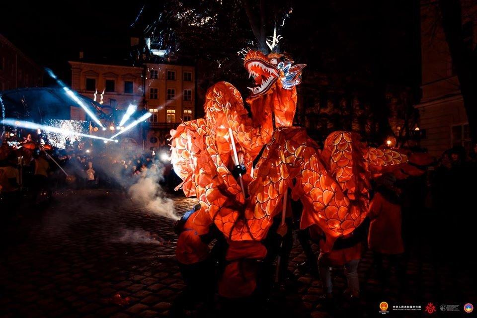 Фото: Китайський Новий рік у Львові 2019 року, фейсбук