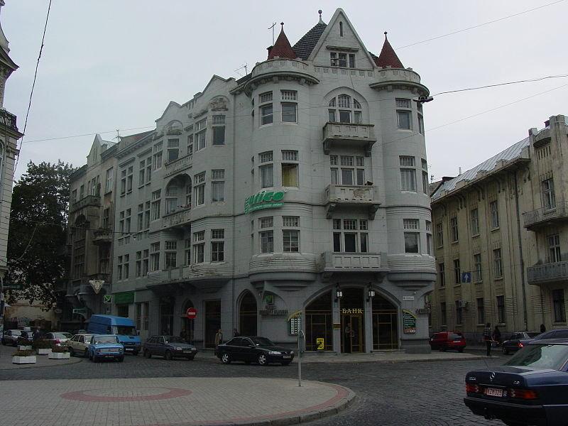 """Будинок, у якому колись була """"Шотландська кав'ярня"""", фото з Вікіпедії"""