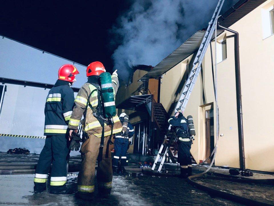 Фото з пожежі надані 032.ua ГУ ДСНС у Львівській області