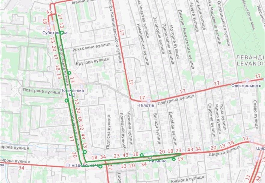Фото: проєкт щодо продовження вулиці Суботівської до мікрорайону Рясне/ e-dem.in.ua