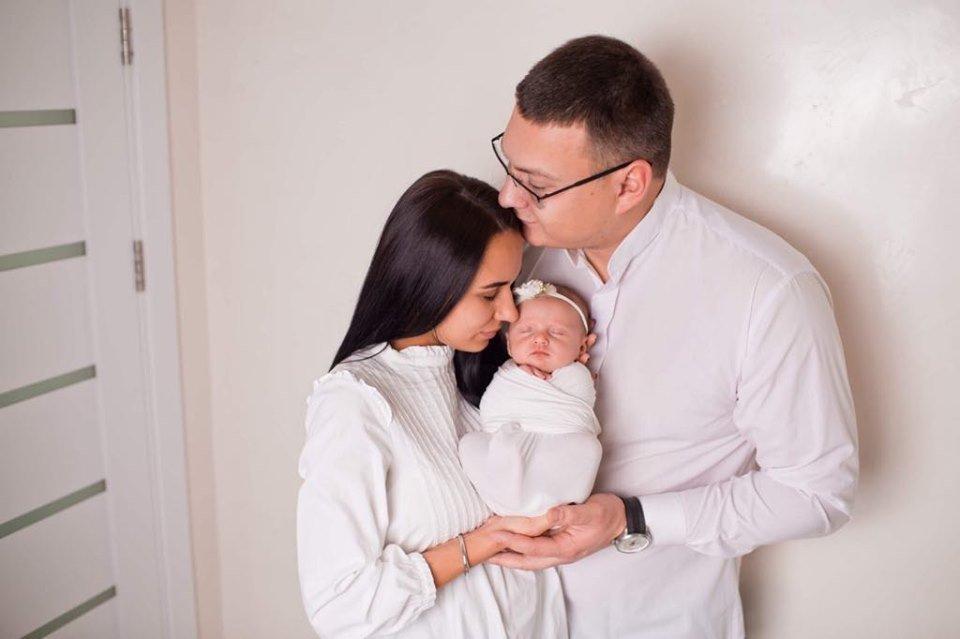 Любомир Босаневич з сім'єю