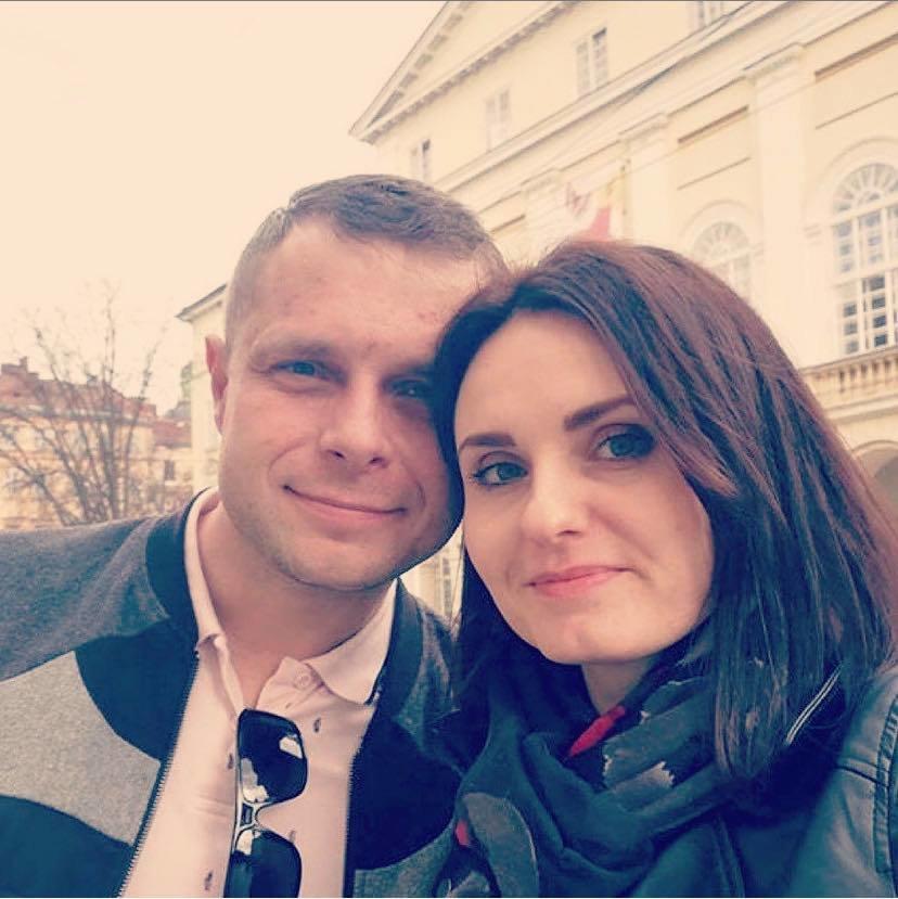 Ірина Оршак з чоловіком