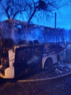 Фото: горів автобус / пресслужба ДСНС у Львівській області
