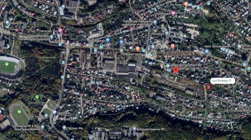 Візуалізація та існуючий стан території, фото з ЛМР