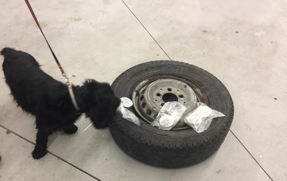 Фото: виявили майже 20 кг  гашишу в запасці / пресслужба Галицької митниці