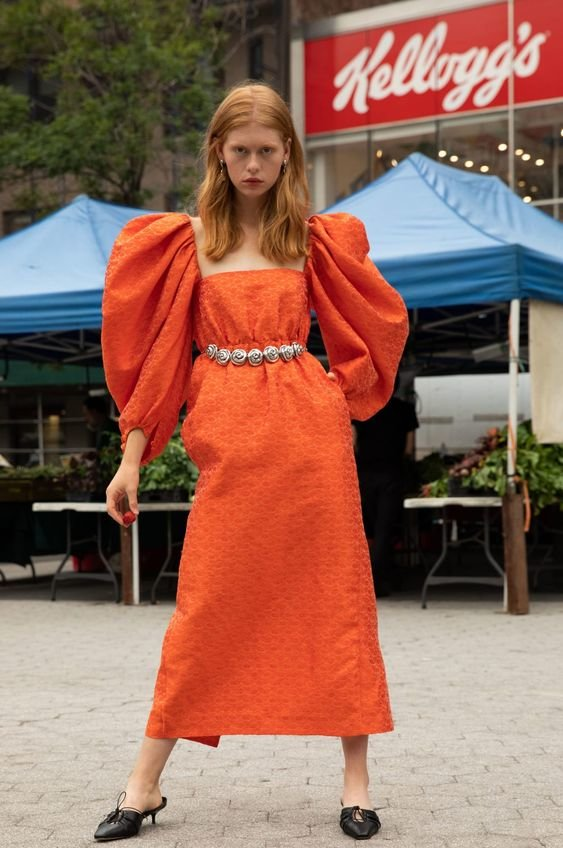 Сукня з рукавами воланами 2020 року. Фото - pinterest.com