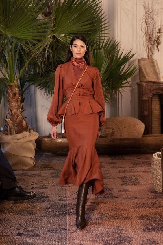 Трендові сукні з рюшами 2020 року.Фото - pinterest.com