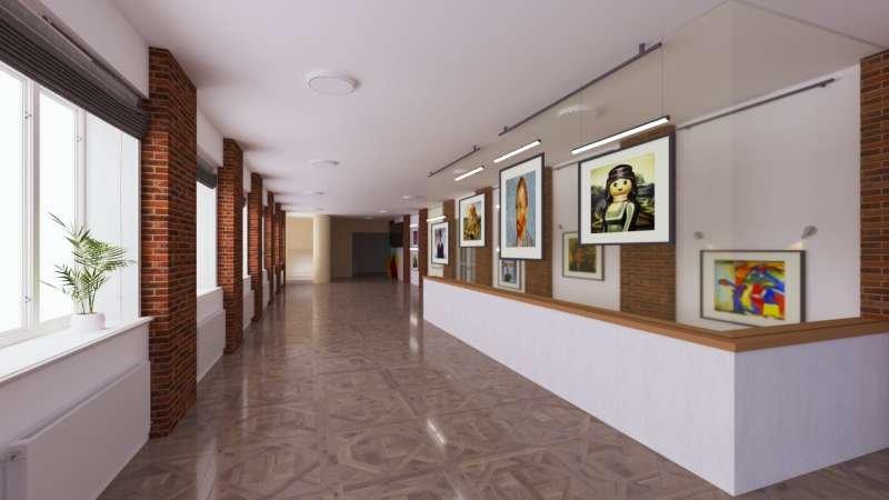 Візуалізація проєкту мистецької галереї у Палаці Хоткевича