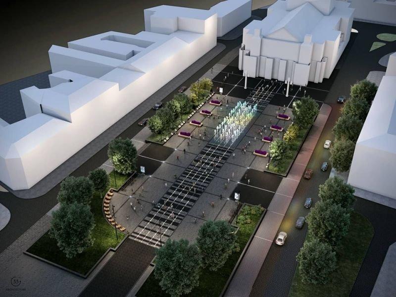 Візуалізація площі перед Оперним  театром / пресслужба ЛМР