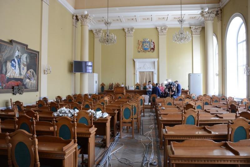 Сесійна зала Ратуші до ремонту (2019 рік). Фото - з відкритого доступу