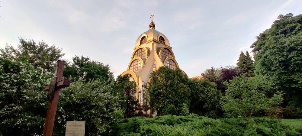 У Львові підсвітили церкву Великомучеників Бориса і Гліба, фото з сайту Львівської міськради/ Андрій Андрух
