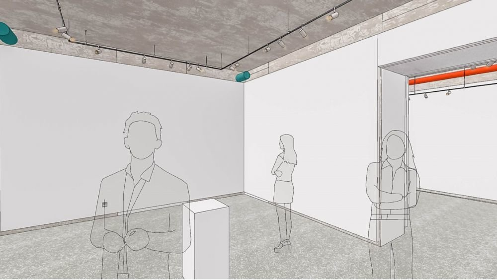 Облаштування Муніципальної галереї на Стефаника, фото: Роман Балук/ ЛМР