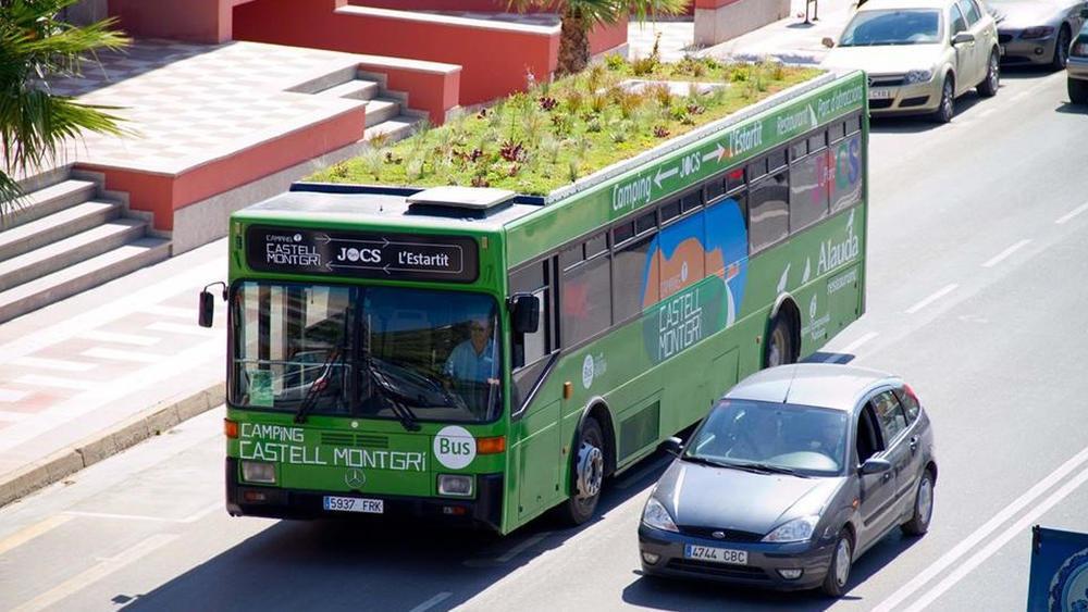Екоавтобус в Мадриді, фото з сайту Phytokinetic