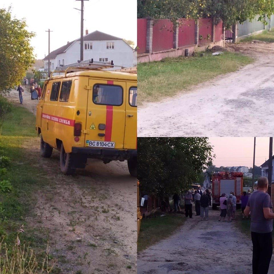 """Вибух у смт. Шкло. Фото - """"Діло"""""""