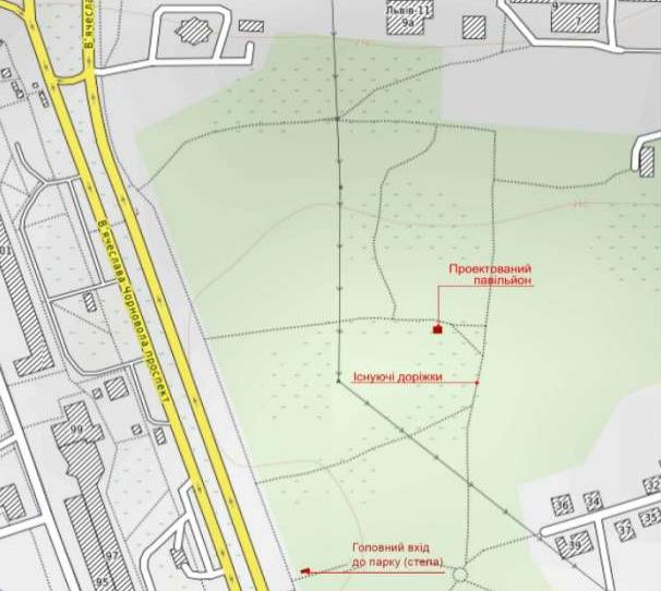 Схема розташування павільйона