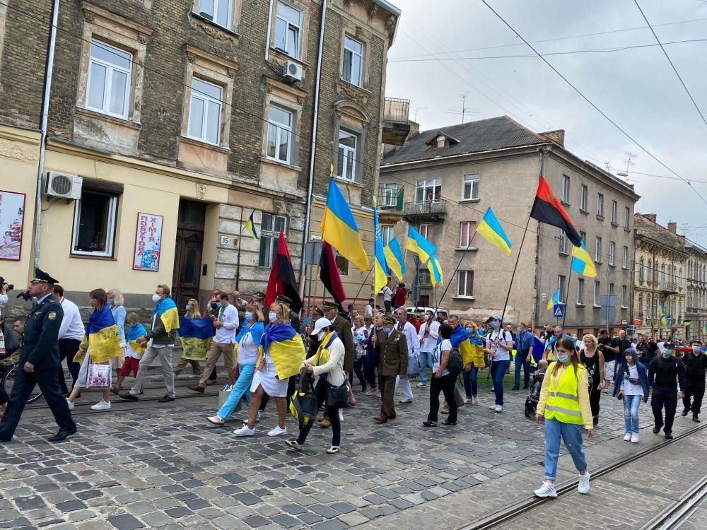 Марш нескорених у Львові, фото ЛМР