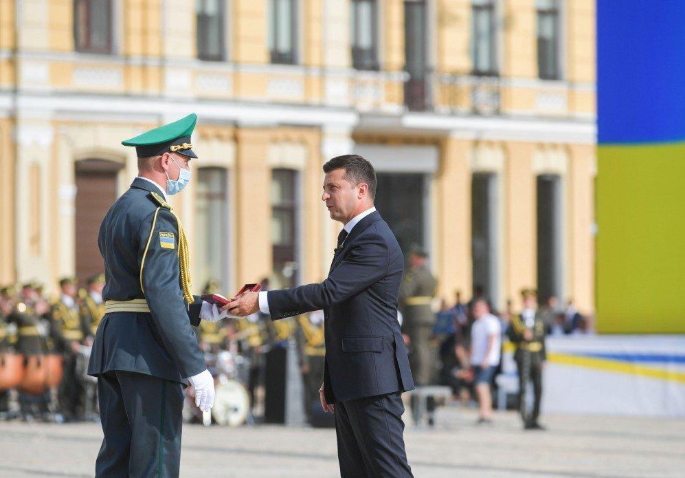 Церемонія нагородження, фото Львівського прикордонного загону