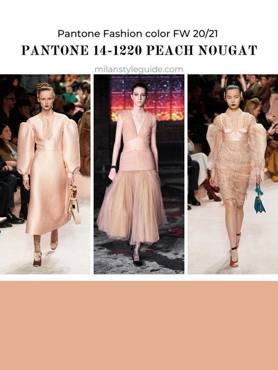 Колір Peach Nougat - образи. Фото - pinterest