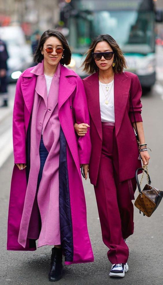 Колір Magenta Purple - образи. Фото - pinterest