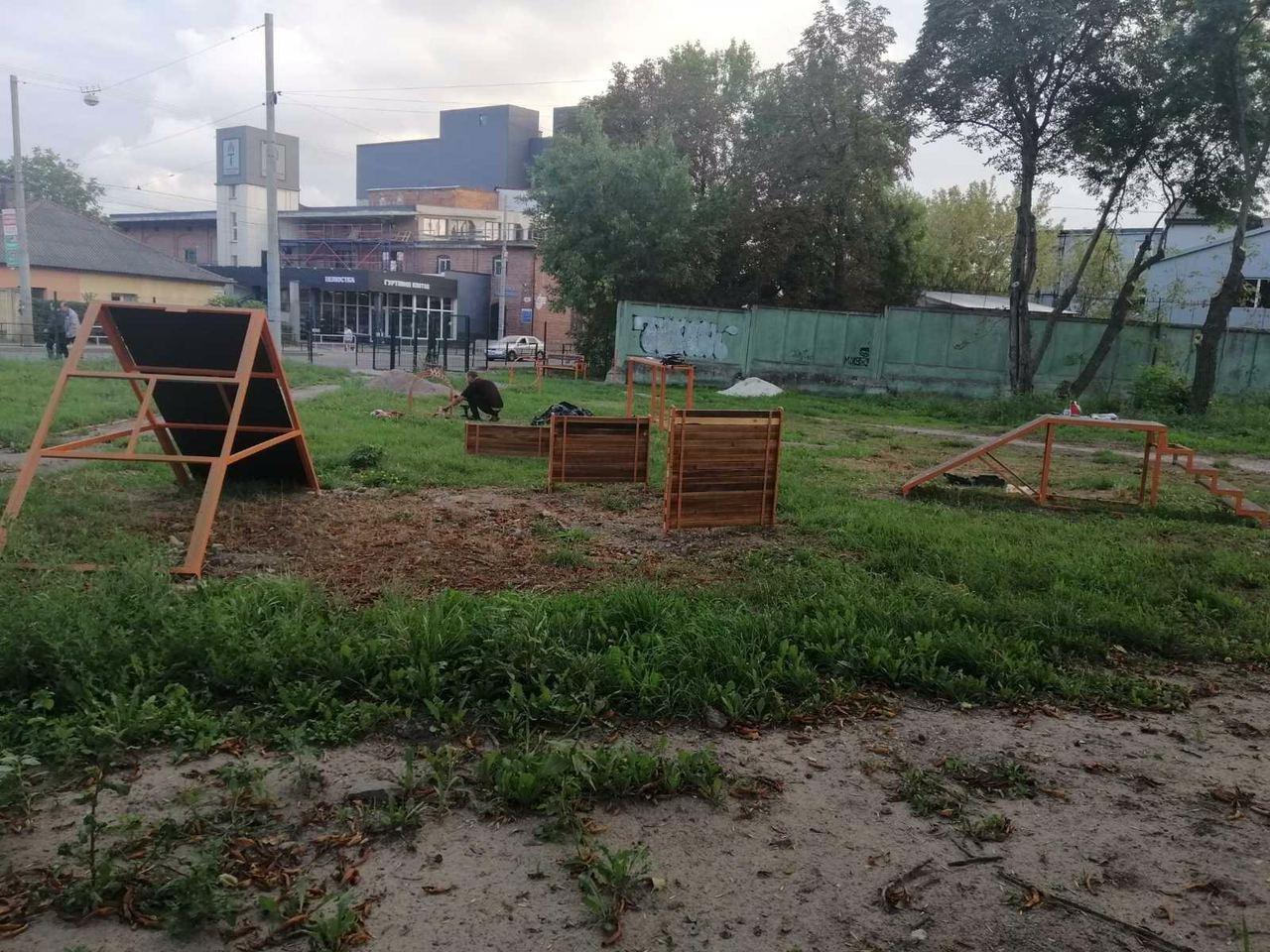 """Вигульний майданчик на Промисловій, фото надали у ЛКП """"Лев"""""""