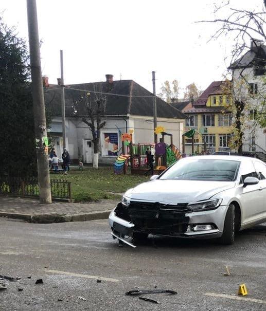 Зіткнення у Хирові на Львівщині, Фото: поліція Львівщини
